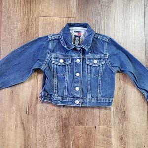 Girls Tommy Hilfiger jean denim jacket Sz.4T